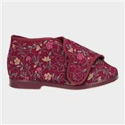 GBS Womens Bella Wide Fit Slipper in Red (Click For Details)