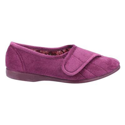 Womens Audrey Touch Fastening Purple Slipper