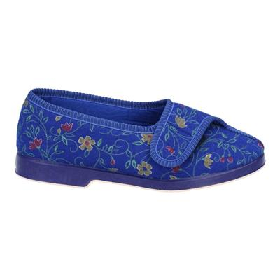 Womens Wilma Wide Fit Slipper in Blue