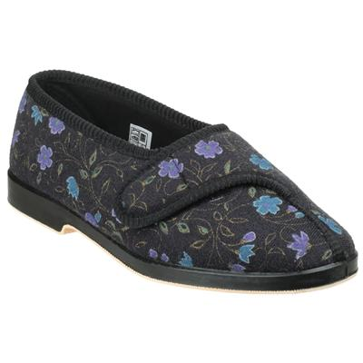 Womens Wilma Wide Fit Slipper in Black
