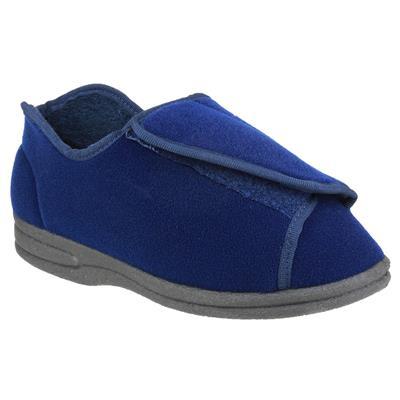 Womens Fife Touch Fastening Slipper in Blue