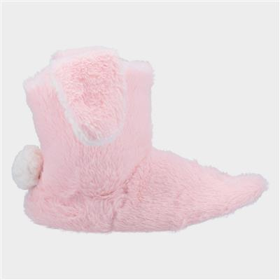 Womens Flopsy Knitted Bootie in Pink
