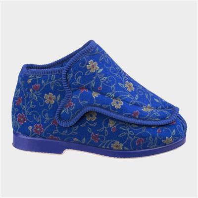 Rhona Womens Blue Extra Wide Fit Slipper