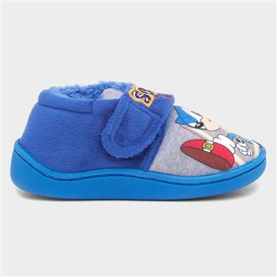 Kids Blue Easy Fasten Slipper