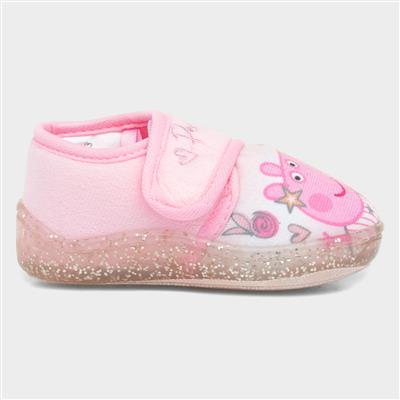 Kids Easy Fasten Slipper in Pink