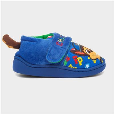 Kids Easy Fasten Slipper in Blue