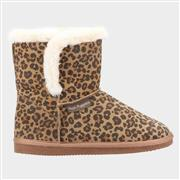 Hush Puppies Womens Ashleigh Animal Print Bootie (Click For Details)