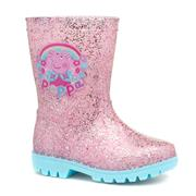 Peppa Pig Kids Pink Glitter Wellington Boot (Click For Details)