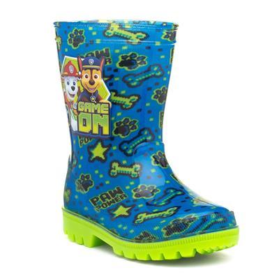 Kids Blue & Green Wellington Boot