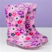 Kids Pink Floral Wellington Boot (Click For Details)