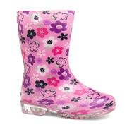 Kids Pink Floral Wellington Boot (Click For Details)