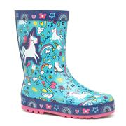 None Kids Blue Unicorn Welly (Click For Details)