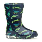 Kids Dinosaur Navy & Green Wellington Boot (Click For Details)