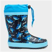 Kids Shark Print Wellington (Click For Details)
