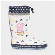 Regatta Peppa Pig Girls Splash Welly in Cream (Click For Details)