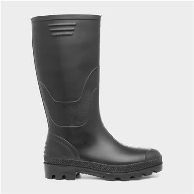 Unisex Black Wellies Kids Size 11 to Adult Size 6