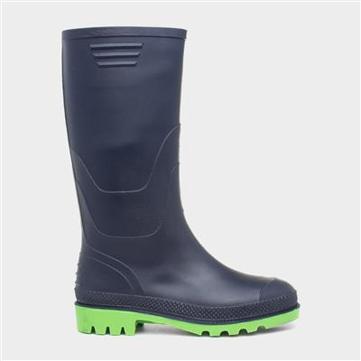 Unisex Navy Welly Kids Size 1 to Adult Size 6