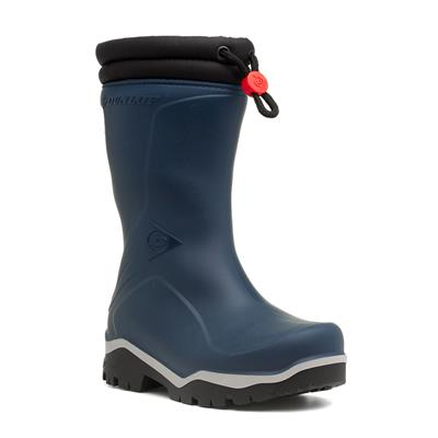 Kids Blue Warm Lined Wellington Boot