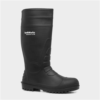 Mens Black Safety Wellington