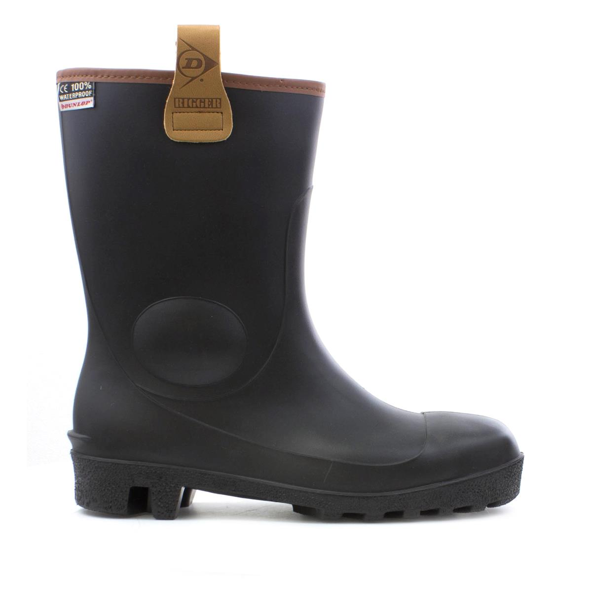 a4546ed34dc Dunlop Mens Black Rigger Safety Wellington Boot