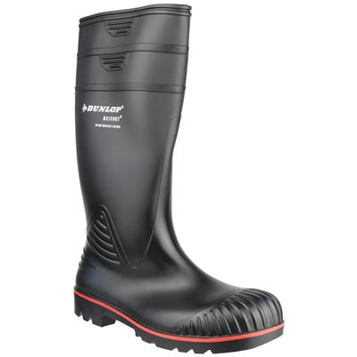 Acifort Mens Black Safety Wellington Boot