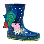 Peppa Pig Axis Kids Blue George Wellington Boot (Click For Details)