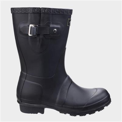 Womens Windsor Short Wellington in Black