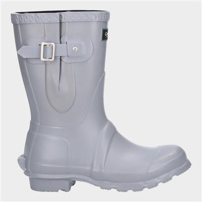 Womens Windsor Short Wellington in Grey