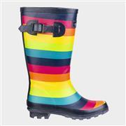 Cotswold Kids Rainbow Multi-Coloured Wellington (Click For Details)