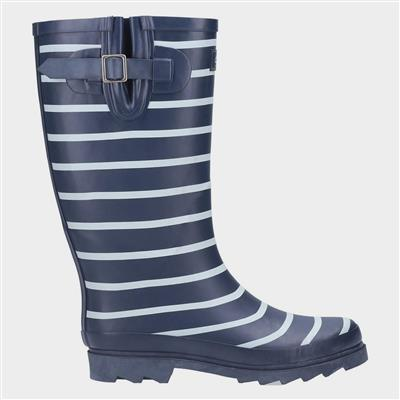Womens Sailor Wellington Boot in Blue