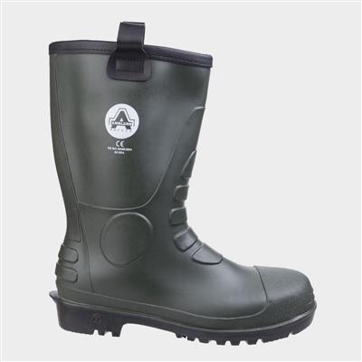 Mens FS97 PVC Rigger Boot in Green