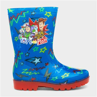 Kids Blue & Red Welly