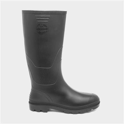 Unisex Black Recycled Wellies