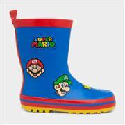 Super Mario Kids Blue Wellington Boot (Click For Details)