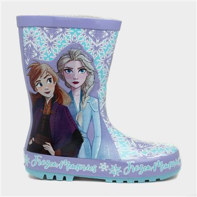 Kids Lilac Wellington Boot