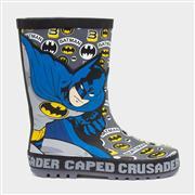 Batman Kids Grey Wellington Boot (Click For Details)