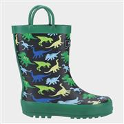 Cotswold Sprinkle Kids Wellington Boot in Green (Click For Details)
