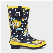 Ruby Shoo Hermione Womens Black Floral Wellington (Click For Details)