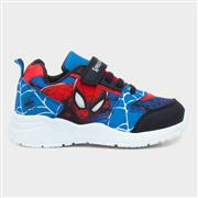 Spiderman Kids Blue and Red Easy Fasten Trainers (Click For Details)
