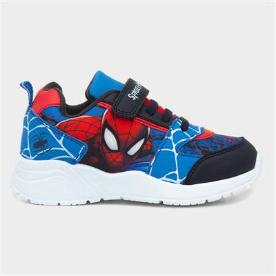 Kids Blue and Red Easy Fasten Trainers