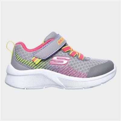 Girls Microspec Sports Grey Trainer