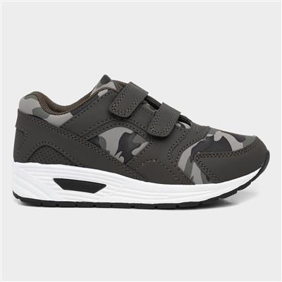 Cameo Kids Green Camo Easy Fasten Trainer