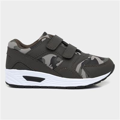 Cameo Kids Green Camouflage Trainer