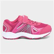 Girls Pink Easy Fasten Trainer (Click For Details)