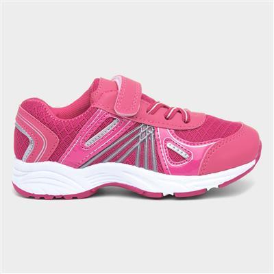Girls Pink Easy Fasten Trainer