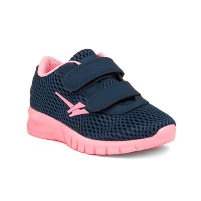 Beta Girls Navy & Pink Easy Fasten Trainer