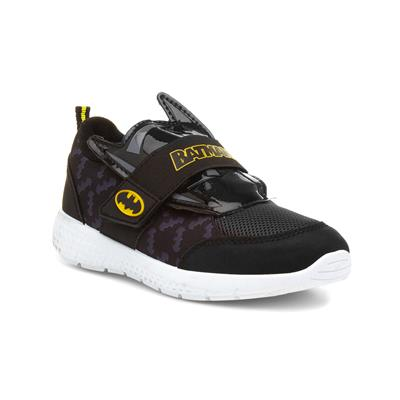 Kids Black Easy Fasten Trainer