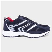 Mens Navy Lace Up Trainer (Click For Details)