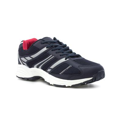 Mens Navy Lace Up Trainer-80354 | Shoe Zone