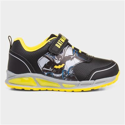 Kids Light Up Trainer in Black & Yellow